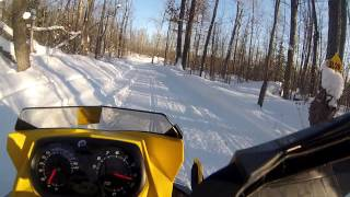 6. snowmobile ride on my old ski do 550f sport renegade