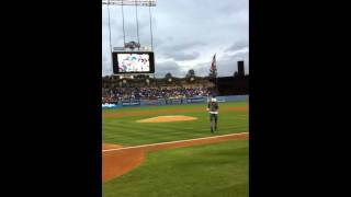 Drama throws First Pitch at Dodgers vs Brewers