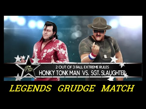 Honky Tonk Man vs. Sgt. Slaughter - 2 Out Of 3 Falls Extreme Rules Match