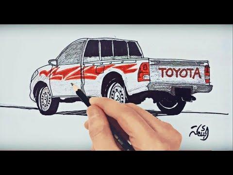 تعليم رسم سيارات بقلم رصاص