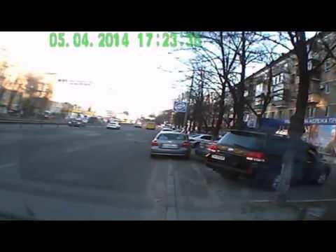 ДТП с Велосипедистом в Киеве 05 04 2014