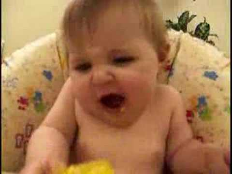 Cute Baby eating Mango – Funny :)