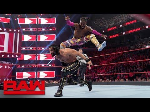 Rollins vs. Kingston - Universal Champion vs. WWE Champion Winner Take All Match: Raw, Apr. 8, 2019