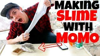 MAKING SLIME WITH MY HEDGEHOG by Tyler Rugge