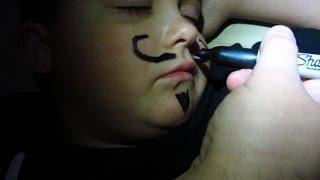 Midnight Mustache Joke