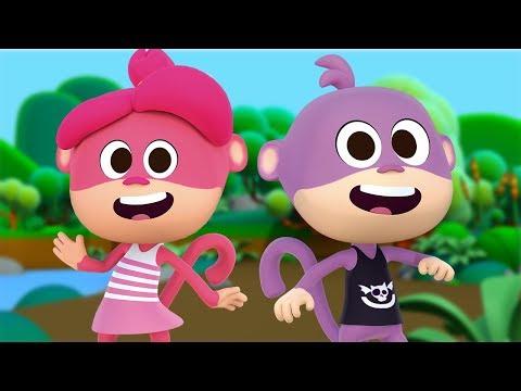 Los Monos y las Monas - Las Canciones del Zoo 2   El Reino Infantil