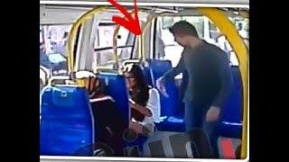 Minibüste saldırıya uğrayan genç kız.