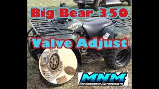 7. Yamaha Big Bear 350 4x4 Cylinder Head Valve Adjustment Rocker Clearance Check Adjust