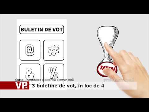 3 buletine de vot, în loc de 4