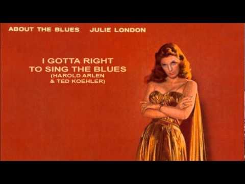 Tekst piosenki Julie London - I Gotta Right to Sing the Blues po polsku
