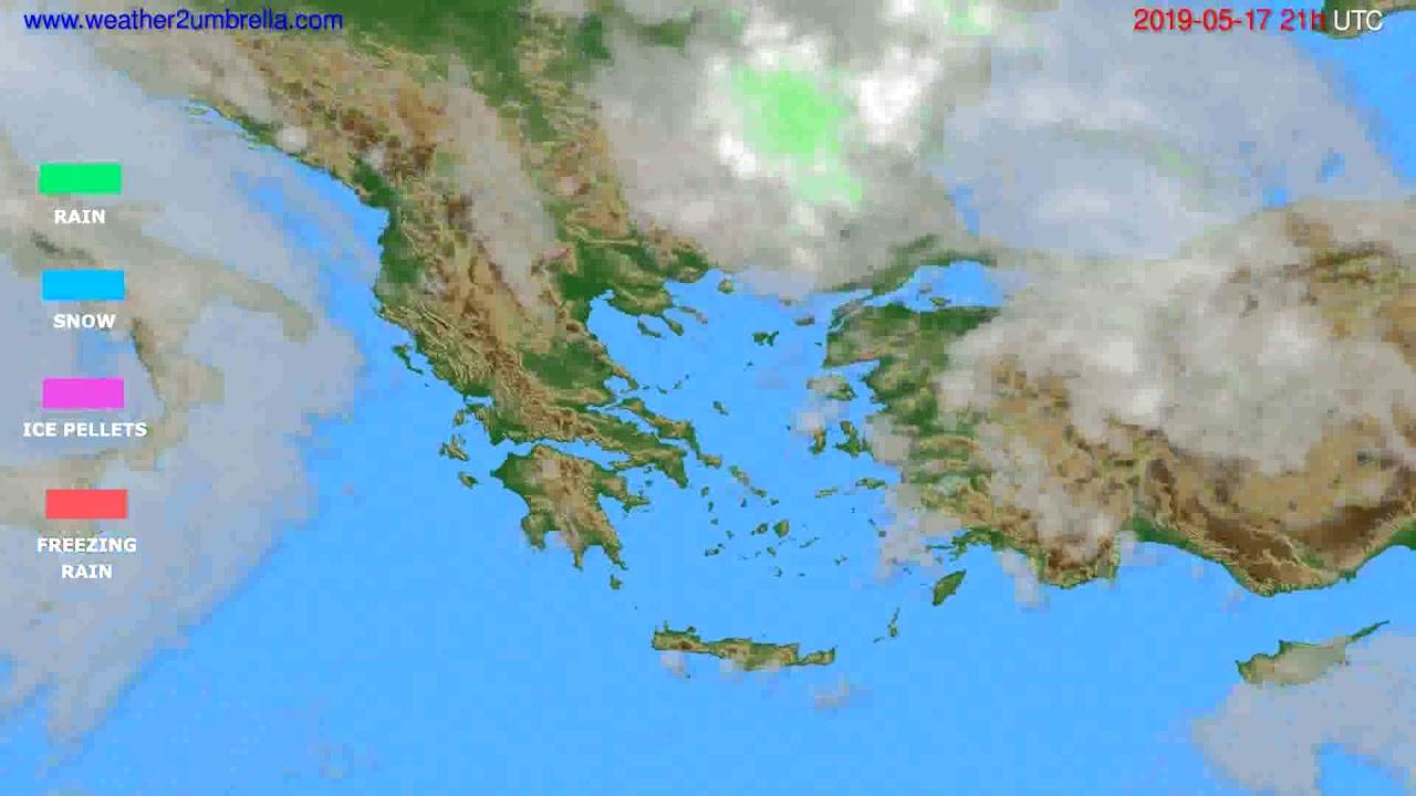 Precipitation forecast Greece // modelrun: 00h UTC 2019-05-16