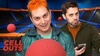 TRAMPOLINE DODGEBALL! (Cell Outs) by Smosh Games