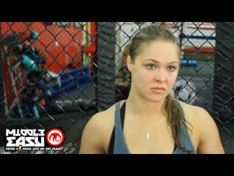 Ronda Rousey discusses the finer points of boobs and sports bras in this interview.