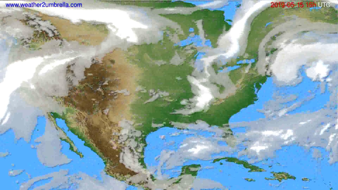 Cloud forecast USA & Canada // modelrun: 12h UTC 2019-05-12