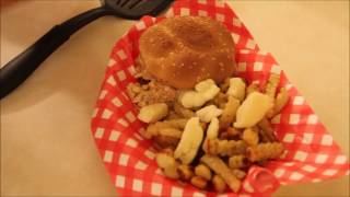 Poutine on the Ritz Burger