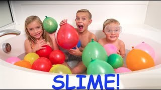 Video MAKING BALLOON SLIME ORBEEZ IN THE BATH!!! MP3, 3GP, MP4, WEBM, AVI, FLV Juli 2018