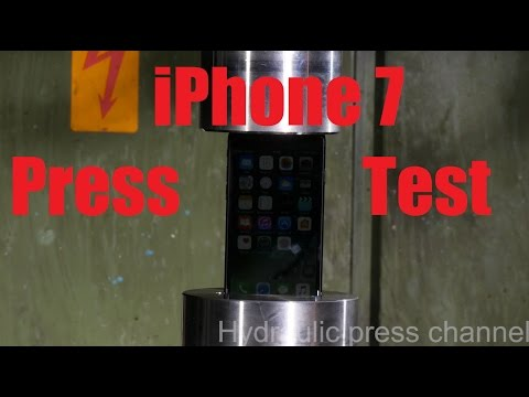 iPhone 7 vs Hydraulic Press