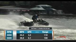 1. Yamaha VXS 2011 PWC Performance Test - By BoatTest.com