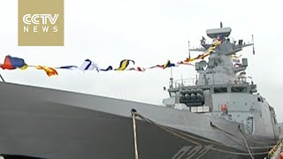 Yinchuan China  City new picture : China's latest missile destroyer Yinchuan enters active service in the South Sea Fleet