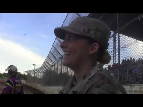 Soldier's Home Coming At the Race Track