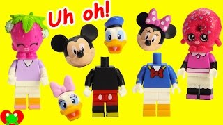 Mickey Mouse Club House Friends Wrong Heads Disney Lego and Mi...