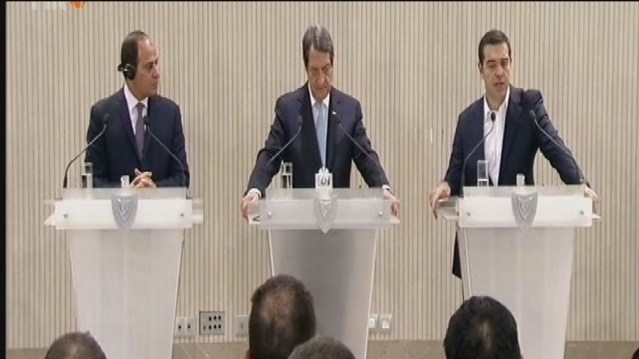 Δηλώσεις του πρωθυπουργού μετά το πέρας της τριμερούς συνάντησης Κύπρου- Αιγύπτου και Ελλάδας