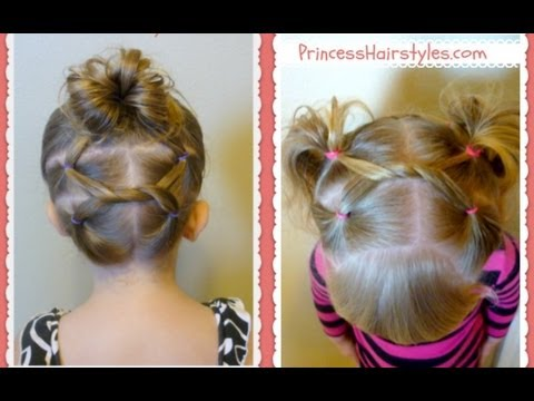 Shoelace Knot Hairstyles For Gymnastics and Sports