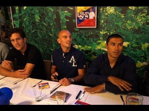 Una pizzata insieme ai giocatori dell'Inter