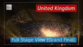 See the Eurovision stage in all it's glory in action for the performance of Never Give Up On You by Lucie Jones from United Kingdom. You'll get a good view o...