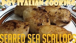 How to Make Perfectly Seared Sea Scallops - POV Italian Cooking Episode 116 by POV Italian Cooking