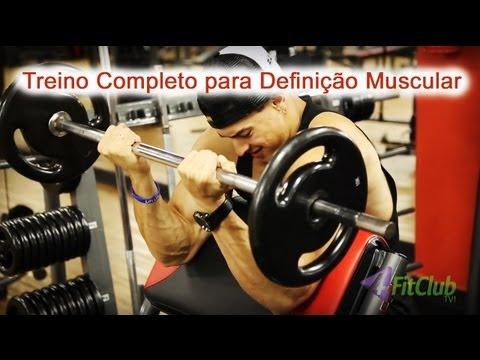 muscular - Treino para Definição Muscular da 4FitClub com Renan Corrêa e Felipe Franco. Um plano de treino completo para definir os músculos, ficar seco e trincado, tod...