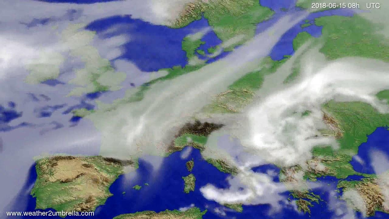 Cloud forecast Europe 2018-06-12