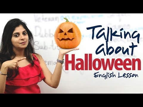ESL - Halloween is celebrated on October the 31st every year. It originated from a pagan holiday and the Christian holiday of All Saints' Day. The name Halloween i...
