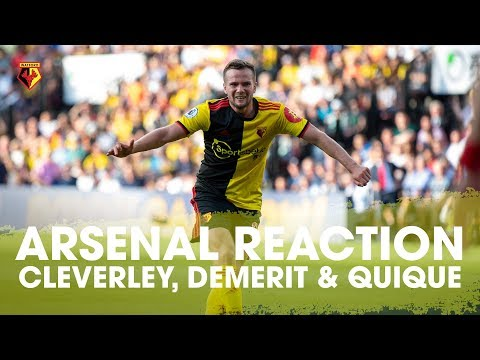 CRAZY ARSENAL DRAW REACTION FROM CLEVERLEY, DEMERIT AND QUIQUE 🗣️