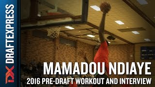 Mamadou Ndiaye NBA Pro Day Workout and Interview