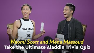 Video Naomi Scott and Mena Massoud Take the Ultimate Aladdin Trivia Quiz MP3, 3GP, MP4, WEBM, AVI, FLV Juli 2019