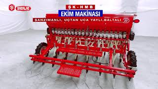 Universal Combined Seed Drill With Gearbox Spring Axe Tine