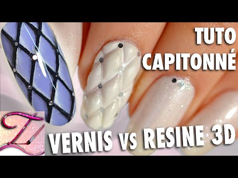nail art - capitonnè versione resina 3d