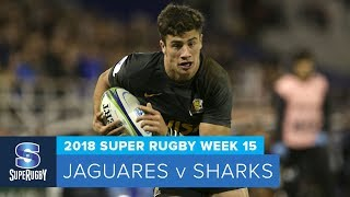 Jaguares v Sharks Rd.15 2018 Super rugby video highlights| Super Rugby Video Highlights