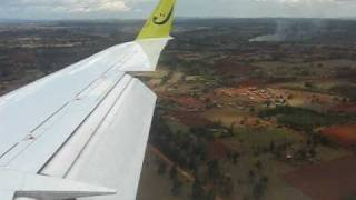 Eldoret Kenya  city images : Jetlink Express CRJ-200 Landing in Eldoret, Kenya - Window View