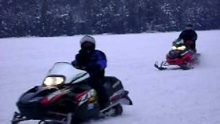 6. snowmobile race with zr 900, polaris rush, 800 triple zr.