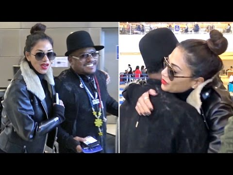 Nicole Scherzinger Gives Apl.de.ap A Big Hug, Dodges French Montana Dating Questions At LAX