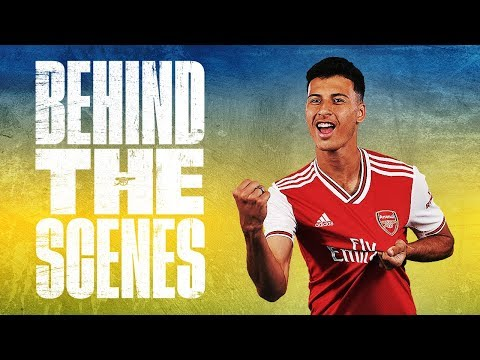 🇧🇷 Gabriel Martinelli's First Day At Arsenal | Behind The Scenes