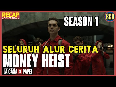 RENCANA PERAMPOKAN PALING JENIUS !! RECAP SELURUH ALUR CERITA MONEY HEIST PART 1 (La Casa De Papel)
