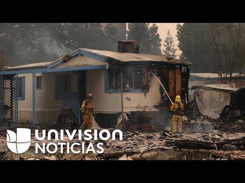 Voraz incendio deja en cenizas parte de un vecindario de casas móviles en Santa Rosa, California
