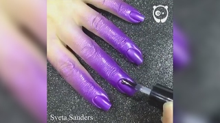 Russia-based nail artist Sveta Sanders has popularized spray-on nail polish that could save the evening of many women. The process is as simple as it looks: first you have to apply the base coat, and let it dry. Then, spray paint the nails, and finally apply the top coat. The nail polish stays only on the nails, and comes off easily from the skin with some running water. Even though Sanders is primarily known for her marbling techniques, this method is a perfect solution for women who need shiny nails, but for whatever reason don't have the steady hands that they require.You can follow the artist here: http://goo.gl/p6I0ZW---------------------Leave a comment below. We would like to hear what you thinkLove art and design videos? Subscribe to our channel:https://www.youtube.com/channel/UCnciA_RZVjq9DMvx1KB625Q?sub_confirmation=1For more art and design news, like us on Facebook:https://www.facebook.com/BoredPandaArt