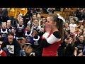 Cheerleaders cheer on cheerleader asking cheerleader to the prom