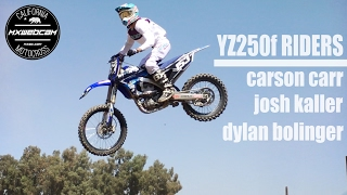 "Watch more moto videos http://www.mxwc.com/Subscribe to the channel http://youtube.com/mxwebcamThumbs up and share for more moto videos. Thanks for watching.YouTube Link https://youtu.be/i6GZh9mF42sMXWEBCAM Presents ""Yamaha YZ250f Riders - Carr, Kaller, Bolinger - Motocross Video by MXWC.COM""FILM LOCATION:Milestone MX ParkRIDERS:Carson Carr, Josh Kaller, Dylan BolingerCOUNTY:Riverside, CaliforniaVIDEO PRODUCTION:mxwebcam - mxwc.com"