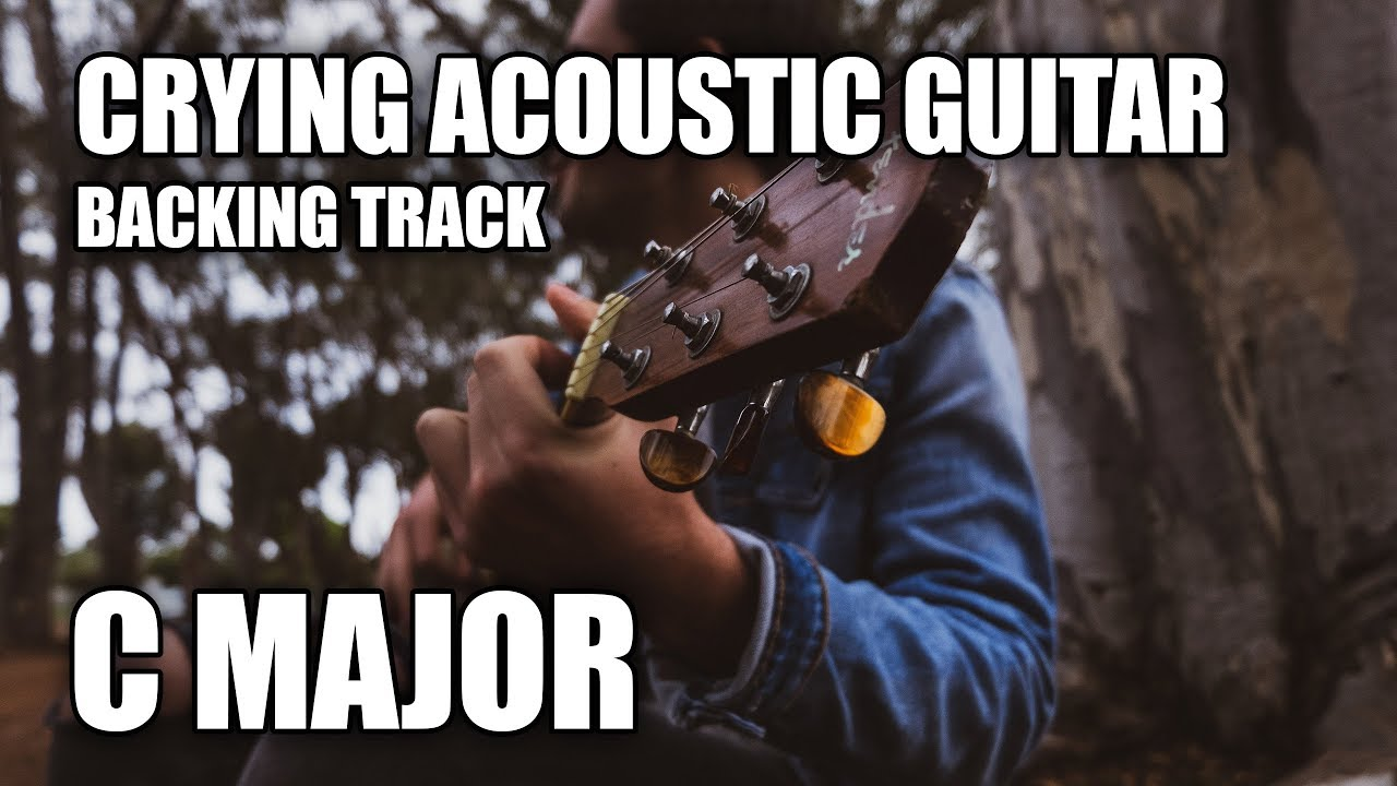Crying Acoustic Guitar Backing Track In C Major