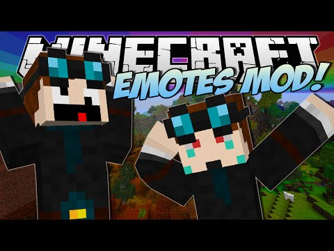 Minecraft | EMOTES MOD! (Become a Living Minecraft Emoji!) | Mod Showcase